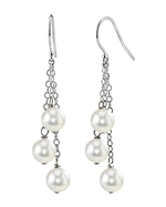 White Akoya Pearl Cluster Earrings