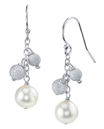 Japanese Akoya Pearl Stardust Earrings