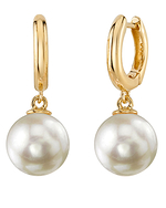 Japanese Akoya Pearl Mary Earrings - Secondary Image