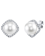 Akoya Pearl & Diamond Ella Earrings