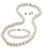 Japanese Akoya White Pearl Sets in AAA Quality- Various Sizes