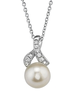 Akoya Pearl & Diamond Chloe Pendant-Choose Your Pearl Color