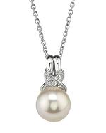 Akoya Pearl & Diamond Swirl Pendant