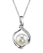 Akoya Pearl & Diamond Alexis Pendant- Choose Your Pearl Color