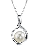 Akoya Pearl & Diamond Alexis Pendant- Choose Your Pearl Color