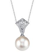 Akoya Pearl & Diamond Ava Pendant