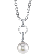 Akoya Pearl & Diamond Holly Pendant