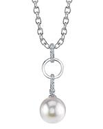 Akoya Pearl & Diamond Holly Pendant