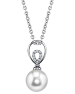 Japanese Akoya Pearl & Diamond Jocelyn Pendant