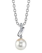 Akoya Pearl & Diamond Loren Pendant