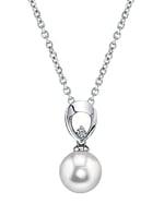 Akoya Pearl & Diamond Morgan Pendant