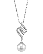 White Akoya Pearl & Diamond Nancy Pendant