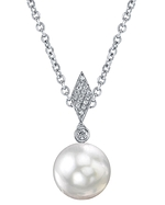 Akoya Cultured Pearl & Diamond Samantha Pendant