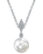 Akoya Cultured Pearl & Diamond Samantha Pendant
