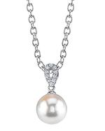 Japanese Akoya Pearl & Diamond Callie Pendant
