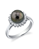 Tahitian South Sea Pearl & Diamond Solar Ring