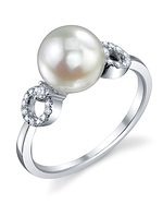 Akoya Pearl & Diamond Joyce Ring