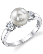 Akoya Pearl & Diamond Michelle Ring