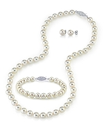 5.5-6.0mm Japanese Akoya White Pearl Set- Choose Your Quality
