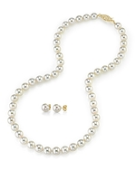 6.0-6.5mm Japanese Akoya Pearl Necklace & Earrings - Secondary Image