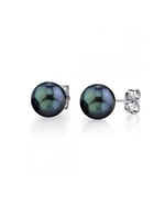 6.5-7.0mm Black Akoya Pearl Stud Earrings