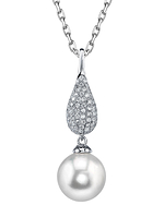 South Sea Pearl & Diamond Brooklyn Pendant