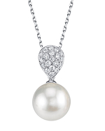 White South Sea Pearl & Diamond Sofia Pendant