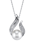 White South Sea Pearl & Diamond Tiara Pendant