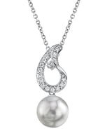 South Sea Pearl & Diamond Jessica Pendant