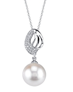 White South Sea Pearl & Diamond Adele Pendant