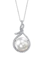 14mm South Sea Pearl & Diamond Agnes Pendant