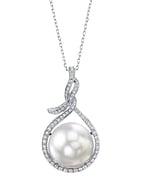 14mm South Sea Pearl & Diamond Agnes Pendant