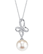 White South Sea Pearl & Diamond Aiden Pendant
