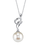 White South Sea Pearl & Diamond Aria Pendant
