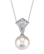White South Sea Pearl & Diamond Ava Pendant