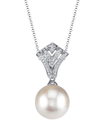 White South Sea Pearl & Diamond Ava Pendant