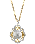 South Sea Pearl & Diamond Betty Pendant