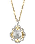 South Sea Pearl & Diamond Betty Pendant