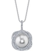 South Sea Pearl & Diamond Braided Pendant