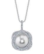 South Sea Pearl & Diamond Braided Pendant