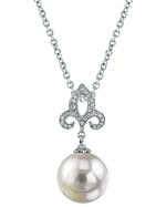 South Sea Pearl & Diamond Caroline Pendant