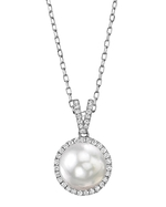 White South Sea Pearl & Diamond Celia Pendant