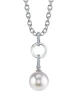 South Sea Pearl & Diamond Holly Pendant