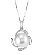 White South Sea Pearl & Diamond Debra Pendant
