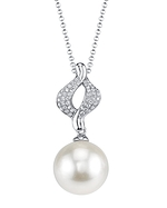 White South Sea Pearl & Diamond Elsa Pendant
