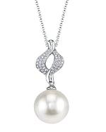 White South Sea Pearl & Diamond Elsa Pendant