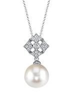White South Sea Pearl & Diamond Jade Pendant