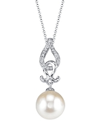 White South Sea Pearl & Diamond Judy Pendant