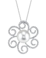 White South Sea Pearl & Diamond Kirsten Pendant