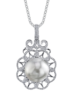 South Sea Pearl & Diamond Kylie Pendant